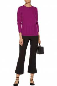 Augustus ribbed wool and cashmere-blend sweater