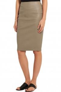 Floridia leather skirt