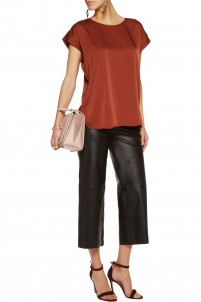 Candillani stretch-silk satin top