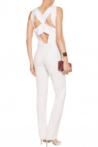 Saxby cutout crepe jumpsuit