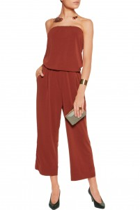 Mynni strapless stretch-jersey crepe jumpsuit
