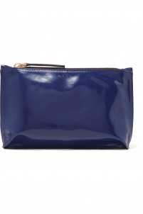 Faux patent-leather cosmetics case