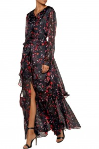 Camila ruffled silk-chiffon gown