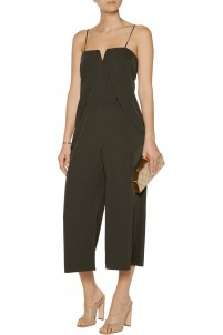 Layered twill jumpsuit