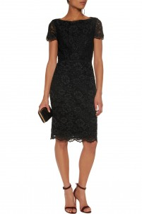 Ainsley guipure lace dress