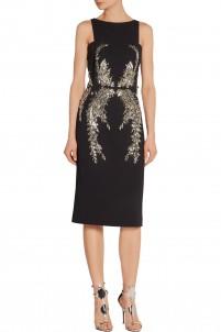 Embellished crepe dress