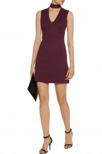 Cutout ponte mini dress