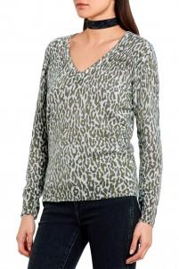 Cecile leopard-print cashmere sweater