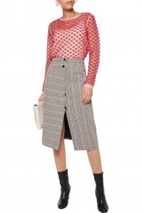 Lace-knit sweater