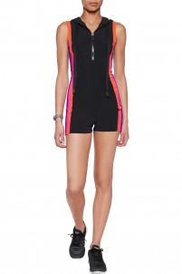 Ala striped stretch-jersey bodysuit