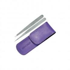 Petite Tweezer Set With Lavender Case