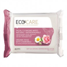 Facial Cleansing Wipes Organic Rose with Chamomile