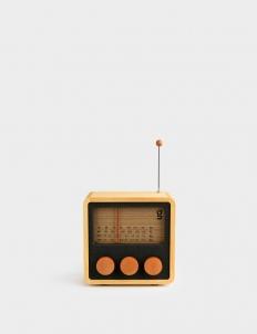 KuBO 4-Band Cube Wooden Radio