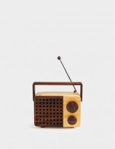 MiKRO FM Portable Wooden Radio