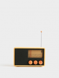 ReKTO 4-Band Rectangle Wooden Radio