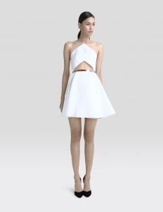 Carbon Cutout A-Line Dress