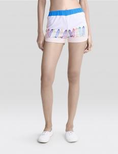 White Krayon Shorts