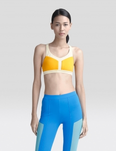 Cross Yellow Terry Sports Bra