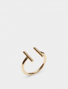 Double Bar Gold-Plated Brass Ring
