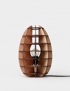 Wooden Egg Table Lamp