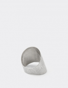 Ripple Hammered Silver Ring