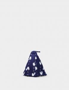 Indigo Blue Stamped Batik Cotton Door Stopper