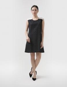 Black Lacrisse Sixties Dress