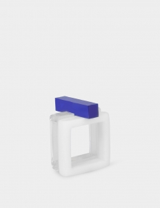 Acrylic Square Ring Set Of Two