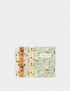 Indonesian Food Series Notebook (A Set of 5)