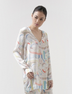 Maharati Silk Relaxed Blouse
