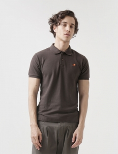 Dark Brown Polo Cotton Top