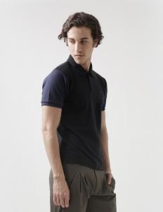 Black Navy Clayton Polo Cotton Top