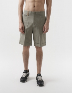 Button Camo Dark Sea Green Shorts