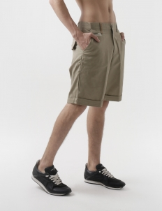Button Camo Khaki Drill Shorts