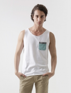 Stone Ende Cotton Sleeveless T-Shirt