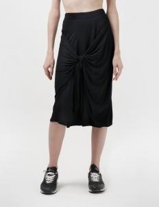 Laranjha Black Texture Skirt