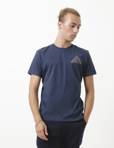 Navy Cube Cotton T-Shirt