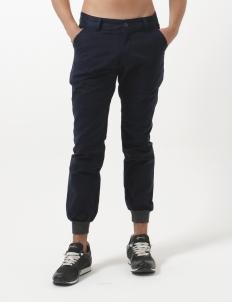 Rib Navy Cuffed Cargo Pants