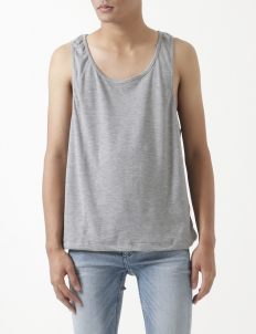 Flavo Grey Cotton Sleeveless Top