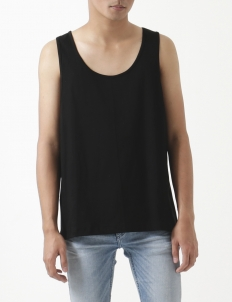 Flavo Black Cotton Sleeveless Top