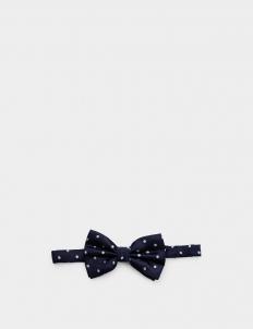 Navy Blue Polka Bowtie