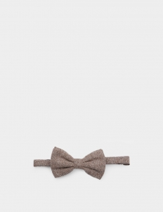 Light Brown Wool Bowtie
