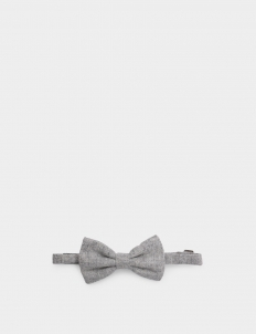 Light Grey Wool Bowtie