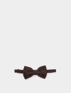 Dark Brown Wool Bowtie
