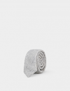Light Grey Wool Tie
