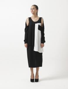 Uma Dress Black White