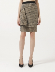 Origami Dobby Pencil Skirt