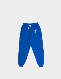 Past Future Sense Blue Cotton Sweatpants II