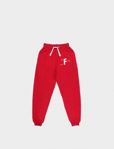 Past Future Sense Red Cotton Sweatpants II