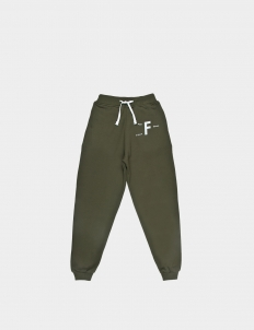 Past Future Sense Green Cotton Sweatpants II